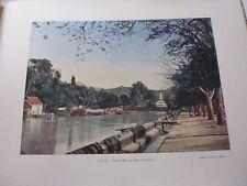 MARTINIQUE/Gravure 19°in folio couleur/ Rivière Madame (Fort -de-France)
