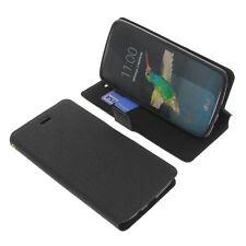 Funda para LG K8 Book Style FUNDA PROTECTORA telefóno móvil estilo libro NEGRA