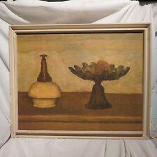 GIORGIO MORANDI OIL, STILL LIFE, DATED 1930 (THE ARTIST WAS 40) NOTED, ITALIAN