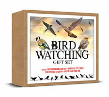 BIRD WATCHING SET BRITISH GARDEN BIRDS DVD BOOK NOTEBOOK PEN IDEAL GIFT SPOTTERS