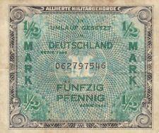 Germany allied military currency AMC 50 pfennig half mark WW2 1944 P-191 VF
