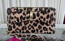 Betsey Johnson Leopard Bow Wallet Zip Around Wristlet NWT