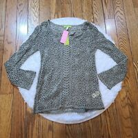 NWT Sigrid Olsen Women's Green Knit Long Sleeve Top Size Small S