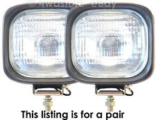PAIR of NEW 12V 55W H3 HALOGEN WORK LIGHTS REVERSE FLOOD LAMPS