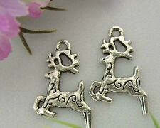 40Pcs Zinc Alloy Deer Charms Pendants 20x15mm 1A120