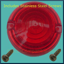 Land Rover Series 2A / 3 Brake / Stop / Tail Light Lens + Stainless Steel Screws