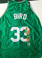 LARRY BIRD BOSTON CELTICS LIMITED EDITION AUTOGRAPHED  PAINTED JERSEY PSA/DNA