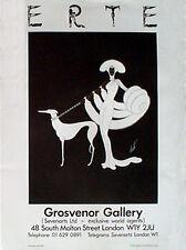 """Erte """"Ebony in White"""" Silkscreen Poster"""