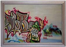 Ölbild Graffiti ZellaSi Streetart Ölgemälde HANDGEMALT 50x80cm