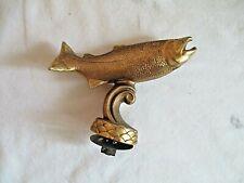 Vintage Salmon Trophy Top Topper Fishing Fish