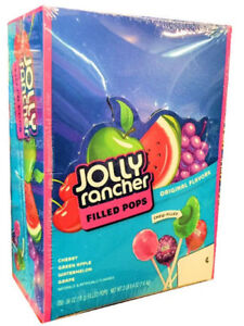 Jolly Rancher Lollipops Variety Candy Fruit Filled 100ct. (Bag no Box)