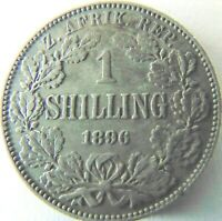 1896 ZAR SOUTH AFRICA, 1 Shilling grading Good VERY FINE.