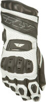 FLY RACING FL2 LEATHER GLOVES W/ ARMOR WHITE MENS TOUCH SCREEN