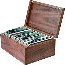 Business Card Holder 22 X 35 Inches Index Cards Organizer Wood Box File Boards