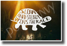 Slow and Steady Wins The Race - NEW Motivational Classroom POSTER (cm1200)