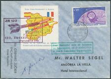 More details for andorra france 1962 rocket mail space signed bin price gb£20.00