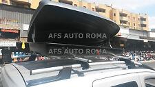 BOX AUTO PORTAPACCHI PORTATUTTO G3 ALL-TIME 480+BARRE FIAT QUBO 2012 CON RAILS
