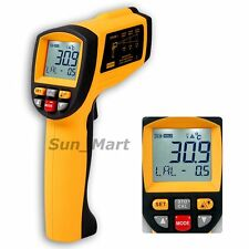 50:1 Digital Infrared Thermometer IR Gun 0.1~1 EM Pyrometer 1350°C 2462°F