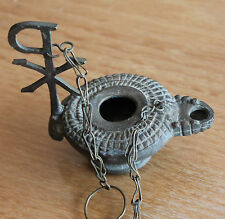 petite lampe a huile en bronze religieuse
