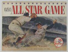 1960 All Star Baseball Program Mlb 7/13/60 Yankee Stadium Unscored 136289
