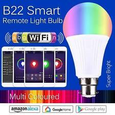 B22 Smart WiFi Light Bulb Wireless APP Remote Control LED Light Echo Alexa RGB