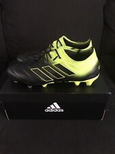 adidas Copa 19.1 Fg Cleat - Men's Soccer, 10.5 M, Black/Shock Yellow