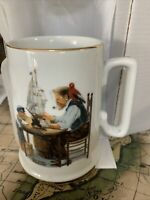 Vintage Norman Rockwell Museum Collection Cup For A Good Boy 1985 Coffee Mug