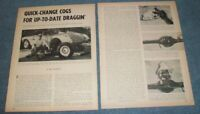 1960 Klentz Chevy Quick-Change Rear-End Vintage Info Article Corvette Impala