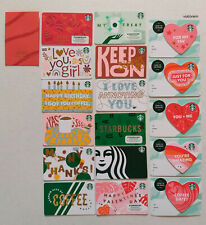 Starbucks Card 2020 New Year of the Rat - Winter Card Set - Valentines Day