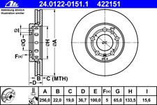 Disco freno (2 pezzi) - ATE 24.0122-0151.1