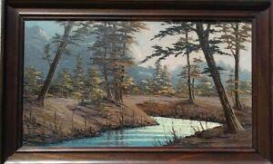 Paul Gobert tableau, peinture au couteau, l'huile sur bois, Savoie, St. Béron