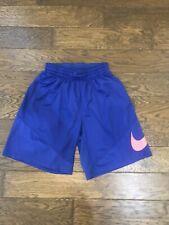 Boys Nike Dri-Fit Athletic Blue Shorts Size L