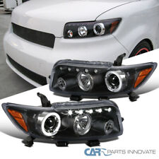 Fit Scion 08-10 xB LED Halo Black Projector Headlights Driving Head Lamps Pair