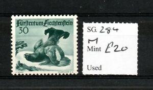 Liechtenstein 1950 Grouse 30r black SG284 hinged mint SG cv £20