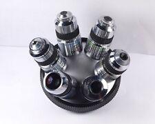 Olympus SPlan 2, 4, 10, 20, 40, 100x Microscope Objective 6-turret set