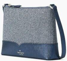 Kate Spade Lola Glitter Crossbody Navy Blue WKR00081 NWT $179 Retail FS