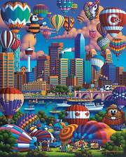 DOWDLE FOLK ART COLLECTORS JIGSAW PUZZLE ABOVE CALGARY 1000 PCS CANADA #10383