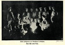 1915 * Unsere Feldgrauen am Biwakfeuer in Galizien *  WW1