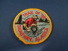 Vintage Trail of '98 Skagway Alaska Embroidered Sew On Patch