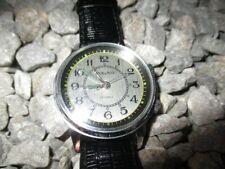 POLJOT USSR Vintage Armbandwecker Wecker Handaufzug 36 mm grau 80er Jahre