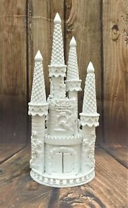 LARGE WHITE HAND MADE PRINCESS FAIRY TALE CASTLE WEDDING CAKE TOPPER 2