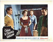 Rare Original VTG 1958 Anne Baxter Chase A Crooked Shadow 11x14 Movie Lobby Card