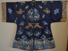 Antique Chinese Silk Embroidered Robe with Butterflys