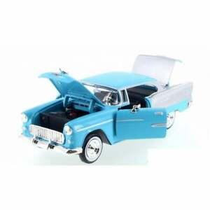 American Classics - 1955 Chevy Bel Air Blue & Silver  1:24   UK seller