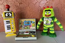 Yo Gabba Gabba Dancing/Talking Doll Vtech Learning Toy Laptop Computer Keyboard
