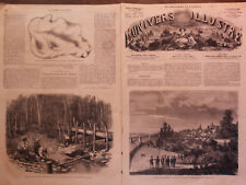 "L' UNIVERS ILLUSTRE 1864  N 351 "" LES GRANDS TRAVAUX EXECUTES A VICHY """