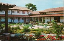 San Damiano Retreat Danville CA Patio Garden c1970 Postcard F34