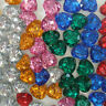 Heart Shaped Diamante Crystals Wedding Table Scatter Decorations Diamonds Gems