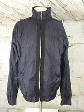 Men's Gio Goi Nylon Wind Breaker Jacket sport lux bomber Class Urban Sz L (978)