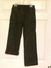 Ralph Lauren girls adjustable length cargo pants size 10 green  21